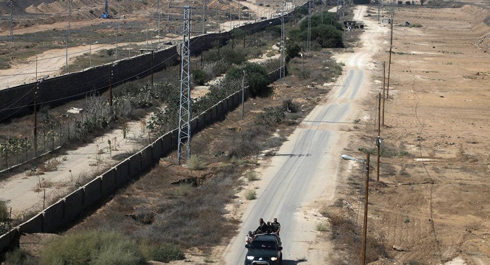Frontera entre la Franja de Gaza y Egipto en Rafah
