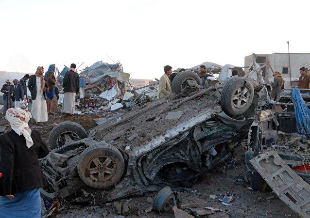 Consecuencias de los bombardeos aéreos de la coalición en Yemen