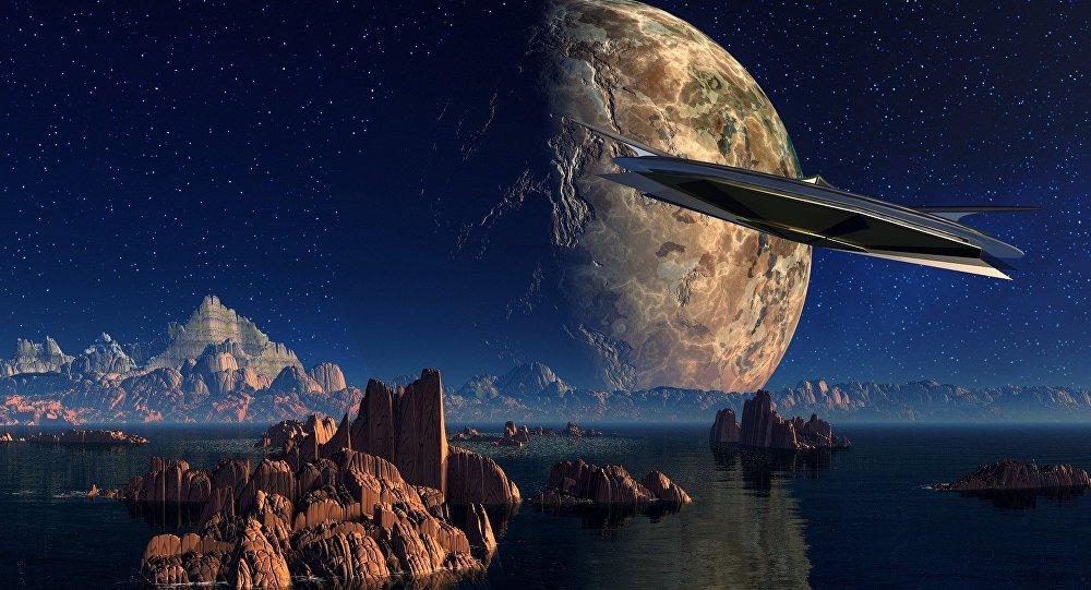 Nave espacial se acerca a un planeta (imagen referencial)