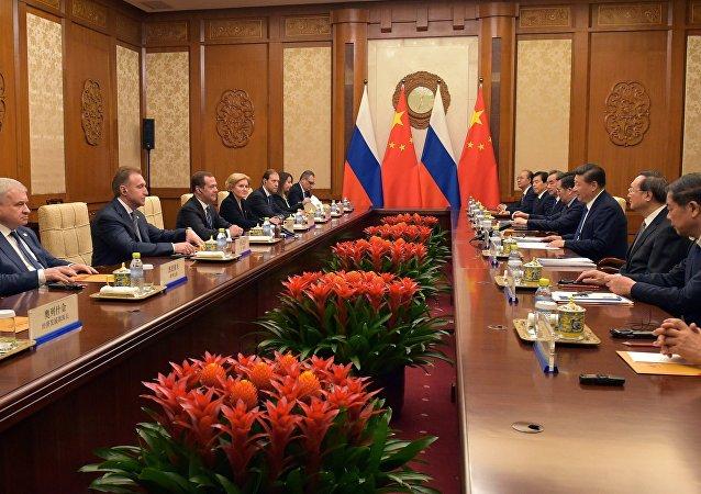 La visita oficial del primer ministro ruso Dmitri Medvédev a China