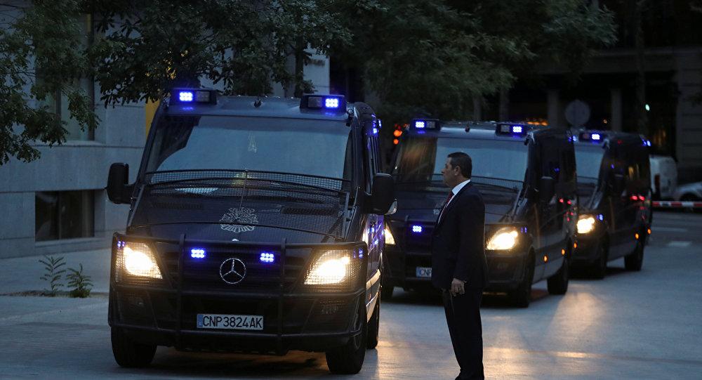 Vagonetas de la Policía Nacional de España (archivo)