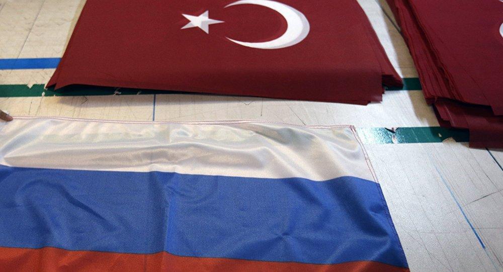 Banderas de Rusia y Turquía