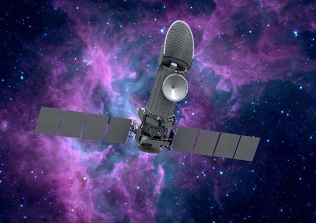 Ilustración gráfica del Observatorio Espacial Mundial Ultravioleta (WSO-UV)