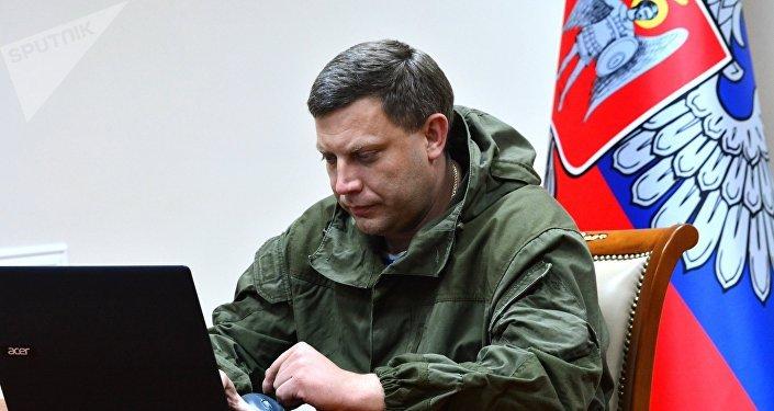 Alexandr Zajárchenko, líder de la autoproclamada República Popular de Donetsk