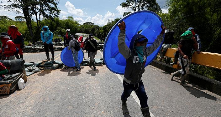 Protestas de los indígenas en Colombia