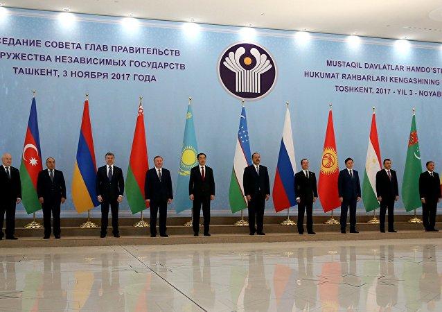 Los participantes del encuentro de los primeros ministros de países de la Comunidad de Estados Independientes en Taskent