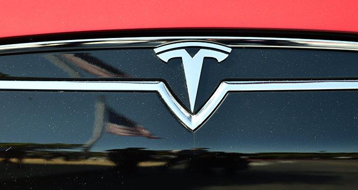 El logo de Tesla