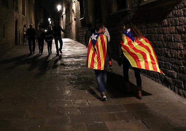 Partidarios de la independencia de Cataluña en Barcelona