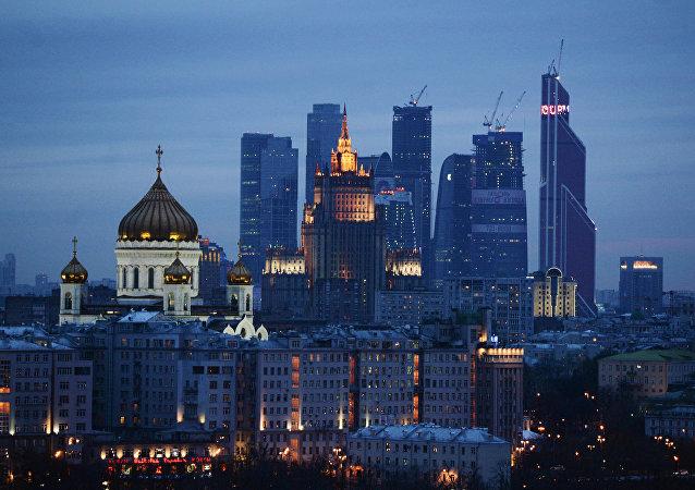 Catedral de Cristo Salvador y Centro Internacional de Negocios de Moscú