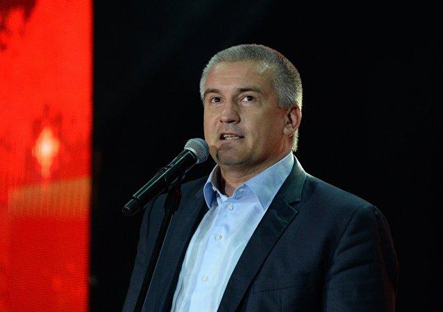 Serguéi Axiónov, presidente de la república de Crimea
