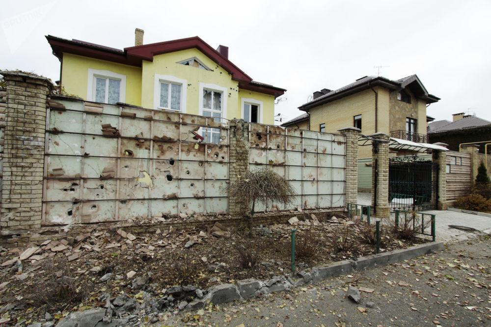 Las consecuencias del bombardeo de Donetsk por los militares ucranianos