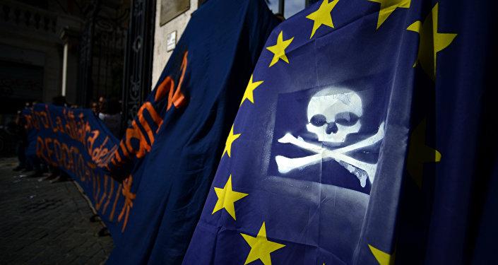 Una protesta contra la política de la UE en Italia (archivo)