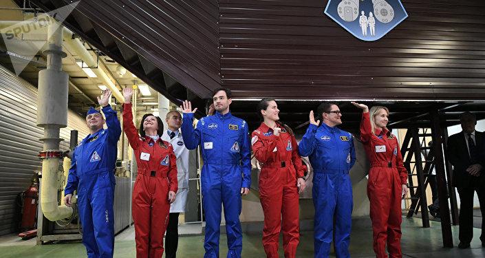 La tripulación del experimento Sirius-17