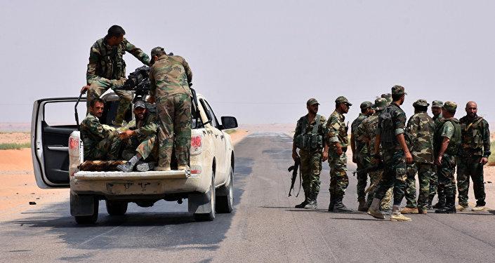 Soldados del ejército sirio en Deir Ezzor