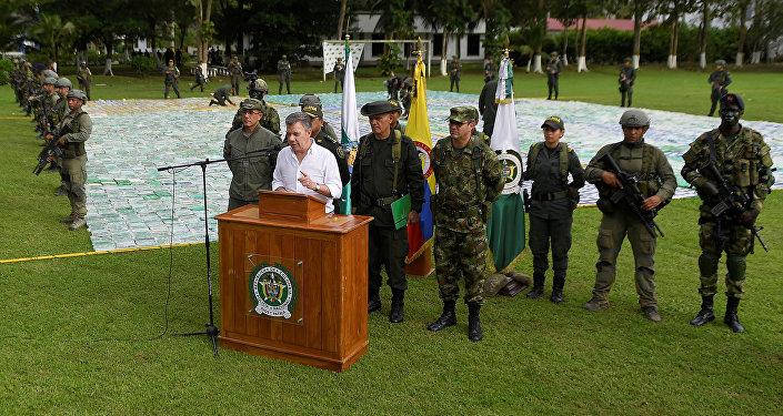 Juan Manuel Santos, presidente de Colombia, en Apartadó