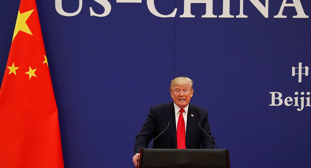 El presidente de EEUU, durante su visita a Beijing, China