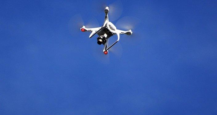 Un dron en el aire