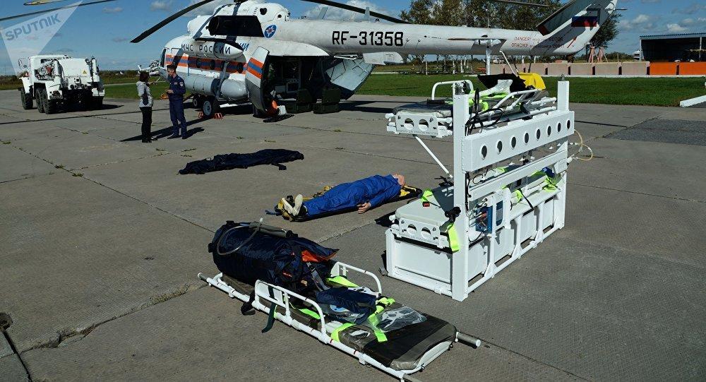Un helicóptero médico ruso