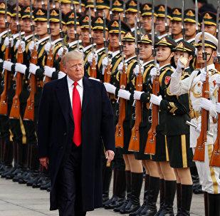 Donald Trump, presidente de EEUU, durante su visita a China