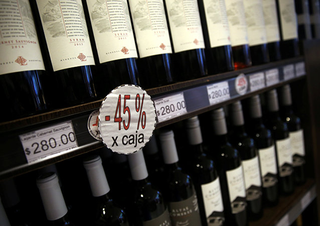 Una tienda de vinos en Buenos Aires, Argentina