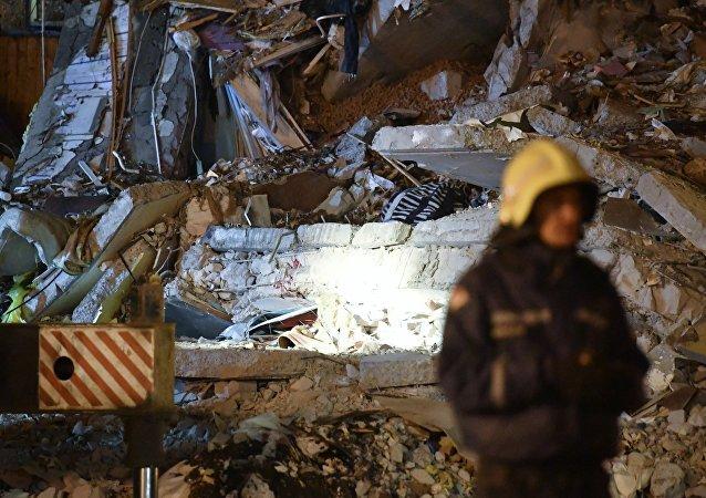 Derrumbe de vivienda en Izhevsk