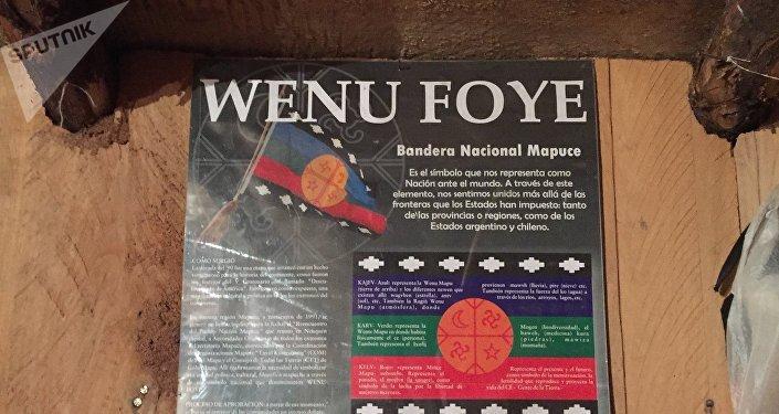 La bandera nacional de los mapuches