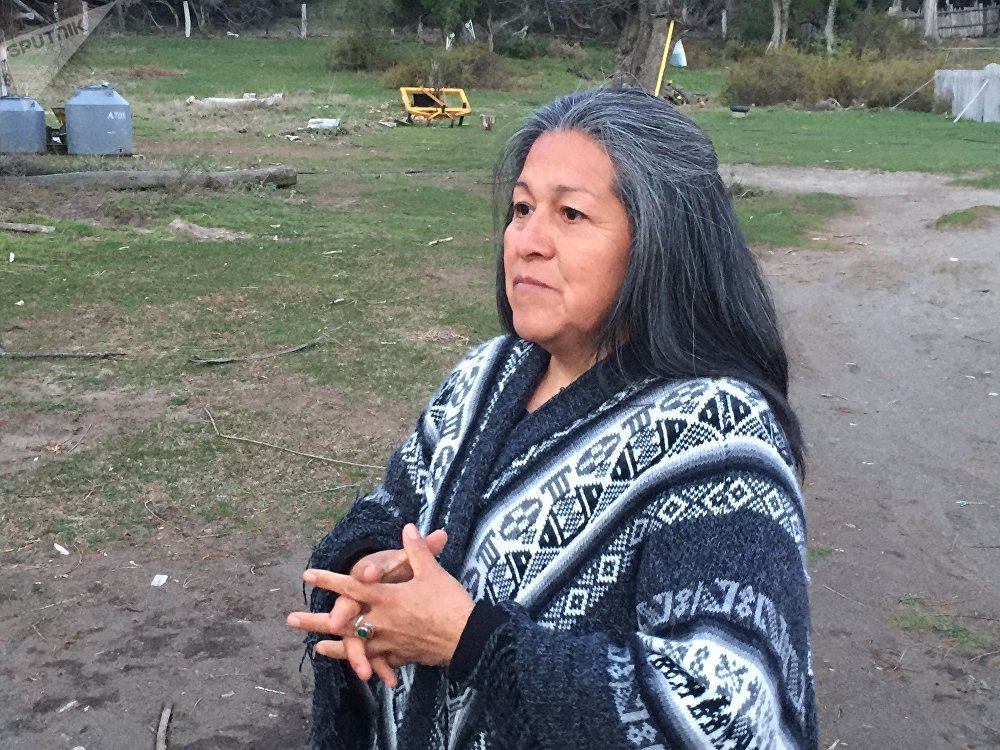 Verónica Hullipan, una de las dirigentes mapuches