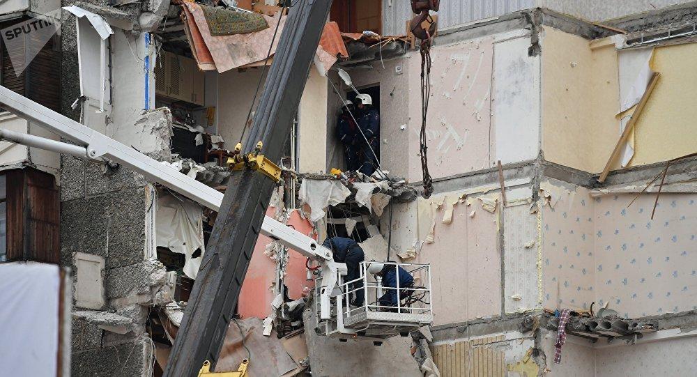 Derrumbe de un edifício en Izhevsk
