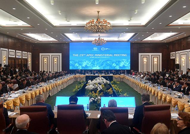 El encuentro de los ministros de Economía de los países del Foro de Cooperación Económica Asia-Pacífico