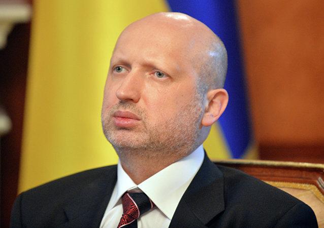 Olexandr Turchínov, secretario del Consejo de Seguridad Nacional y Defensa de Ucrania