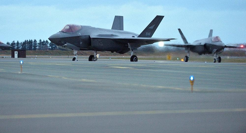 Los F-35 estadounidenses en la base aérea de Orland, en Noruega