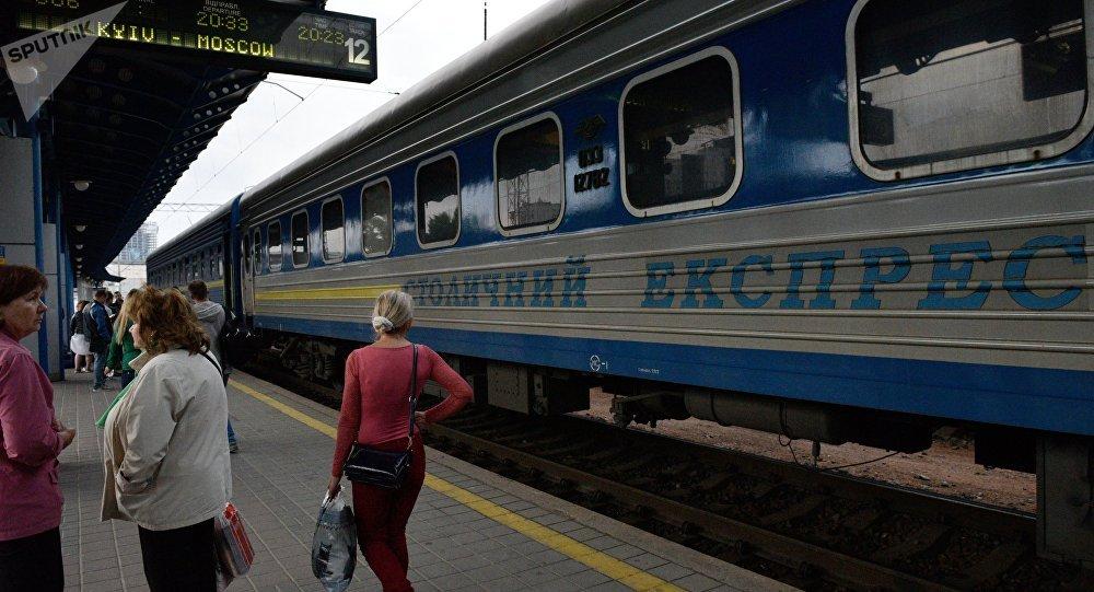 Un tren de la ruta Kiev-Moscú