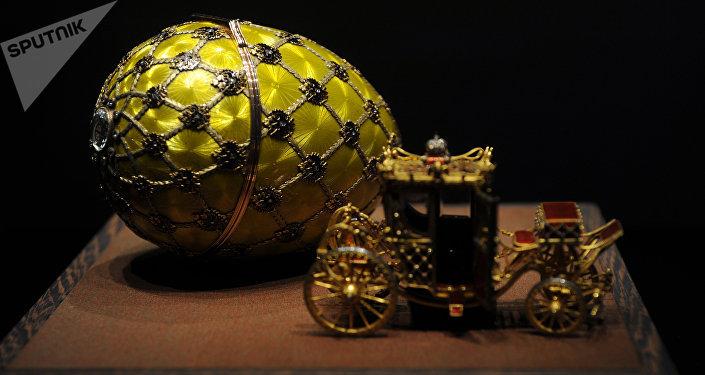 Huevo de la coronación, el taller de joyería de Fabergé