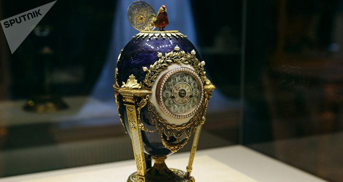 Huevo del gallito (conocido anteriormente por el Reloj de Cuco), el taller de joyería de Fabergé