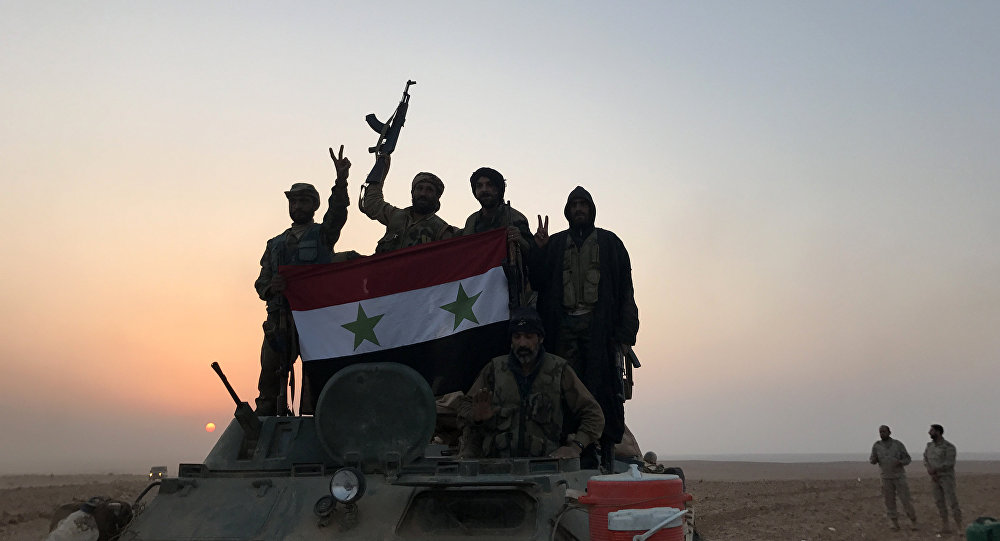 Tropas sirias en los alrededores de Abu Kamal, Siria