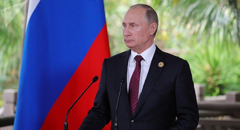 El presidente de Rusia, Vladímir Putin, durante una rueda de prensa