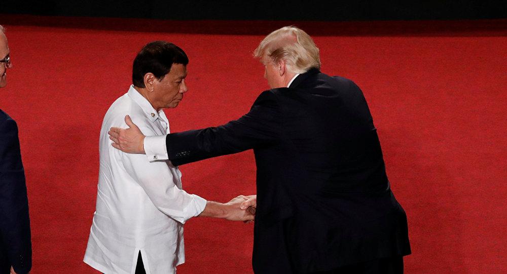 El presidente de Filipinas, Rodrigo Duterte, y el presidente de EEUU, Donald Trump