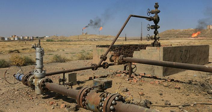 Campo petrolífero en Kirkuk, Irak