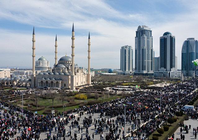 La ciudad de Grozni, capital de Chechenia