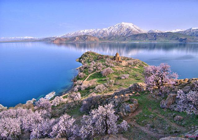 El lago Van, en el este de Turquía