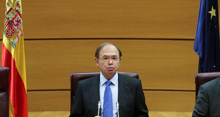 El presidente del Senado español, Pío García-Escudero