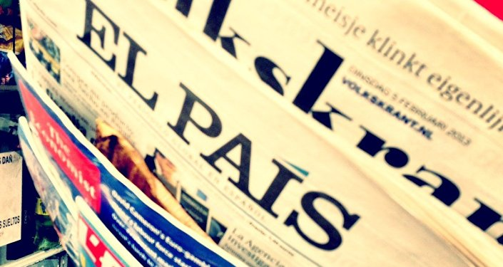 Prensa española, la portada del diario El País (archivo)
