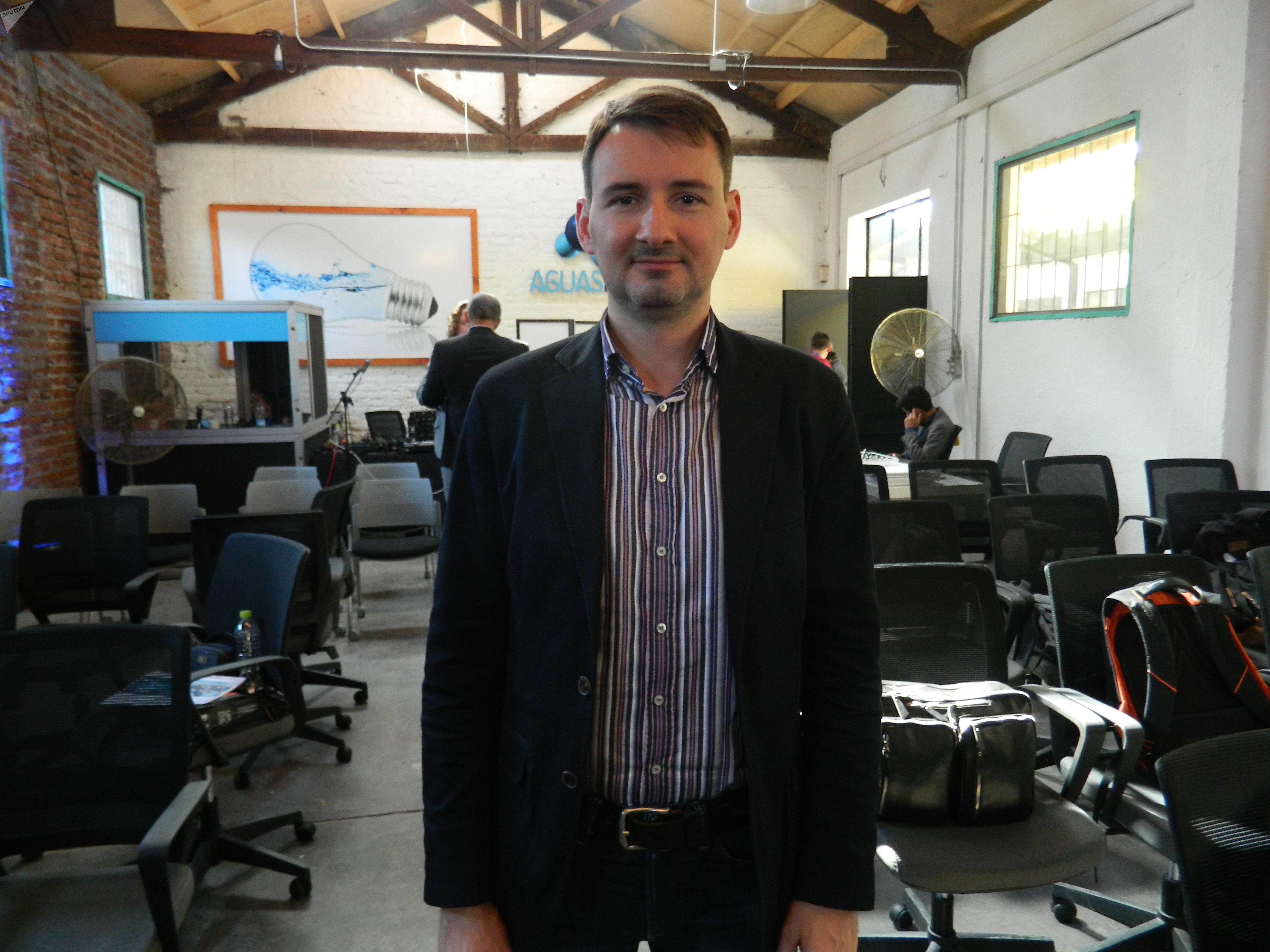 Oleg Arsenyev, director de desarrollo de negocios de RITE, empresa con el respaldo de Rostec.