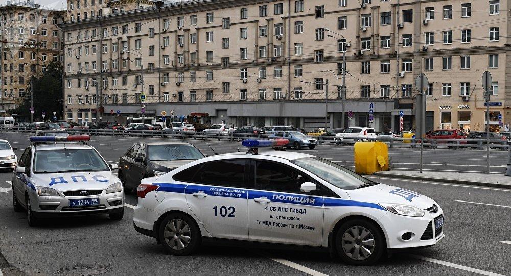 Policía en el centro de Moscú