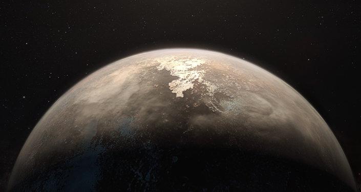 Planeta Ross 128 b (ilustración artística)