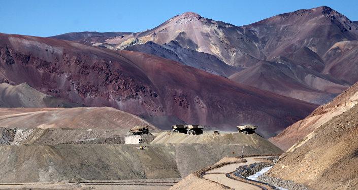 La mina de oro Veladero de Barrick Gold