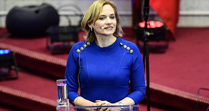 Carolina Goic, candidata democristiana a la presidencia de Chile