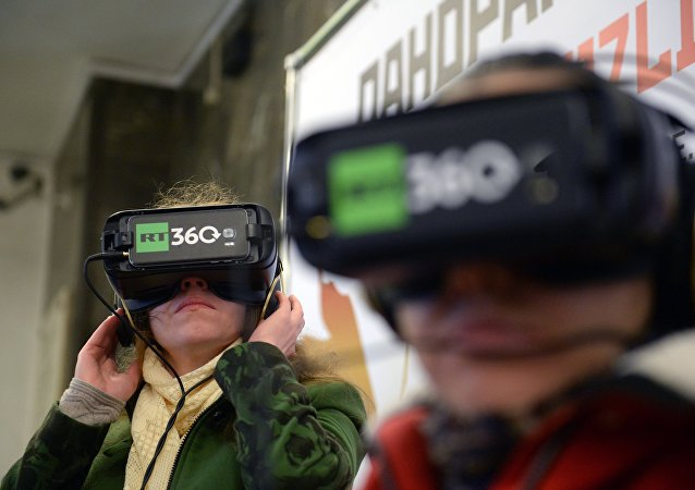Unas gafas de realidad virtual (imagen referencial)