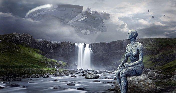 Una extraterrestre (impresión artística)