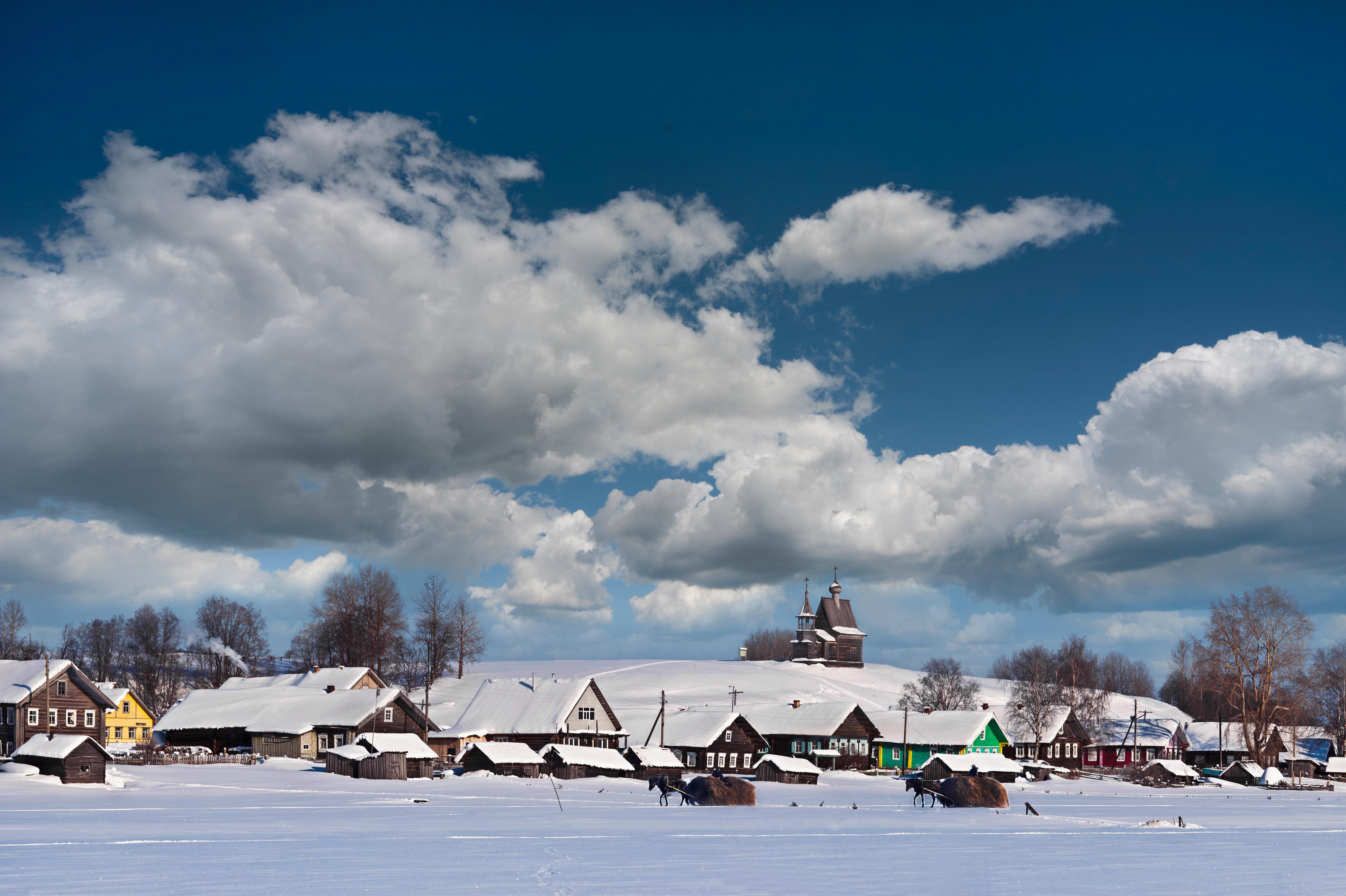 El parque nacional Kenozerski en invierno